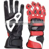 Leather Motorcycle Racing Gloves/ Motorbike Leather Gloves