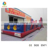Fun inflatable playground gym outdoor,adult obstacle course