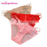 Latest Design Red C String Lace Transparent Sex Underwear Women