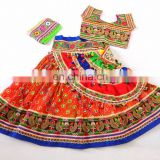 Sanedo Multicolor Navratri Chaniya Choli - Rabari embroidered Lehenga Choli- Designer chaniya choli