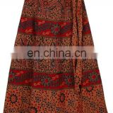 Skirts Online Shopping Store / Buy Women Long Wrap Skirt / Cotton Sarong