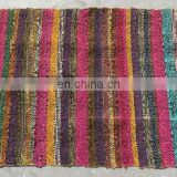 Indian Handmade Cotton Woven Rug/Vintage chindi Cotton Throw Carpet mat/Floor mat Wholesale