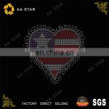 Bling heart shaped hot fix rhinestone abaya