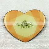 Heart shaped metal mirror with custom design