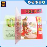 Customized Design 10 Pages Children Push Button Sound Books