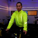 LED Riding Jacket With Rechargeable battery
