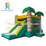 Cheap Price Tropical Type Kids Playground Giant Inflatable Bouncer Castle House With Slide For Children Sale