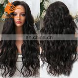 200% Density Full Lace Human Hair Wig Water Wave Virgin Peruvian Hair Wholesale Alibaba WIg Natural Color Wave 24IInch Long Hair