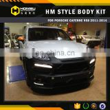 high quality 2011-2014 958 Cayenne Car Change HM Style Wide Body Kit With FRP Material bodykit For Porsch-e