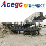 Mobile stone crushing and screening plant station with high quality and professional design