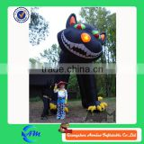 Outdoor giant inflatable halloween black cat for sale
