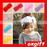 OXGIFT Baby Girl Headband with Bow Infant Girls Hair Bows Headbands Lace Hairband
