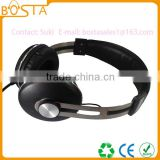 Newest arrival multi-functional stereo coolest design wired headphones with metal headband
