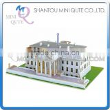 Mini Qute 3D Wooden Puzzle The White House world architecture famous building Adult kids model educational toy gift NO.JPD557