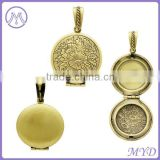 wholesale antique blank brass photo frame pendant