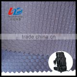 Polyester Dobby Weave Honey Comb Pattern Oxoford Fabric With PU/PVC Coating For Bags/Luggages/Shoes/Tent Using