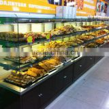 APEX supermarket/store custom make single side glass bakery showcase/bread display cabinet