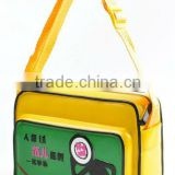 glossy pvc single shoulder strap school book bag wholesale