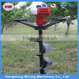 Gas post hole digger for tree planting hand earth auger