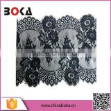 New arrival latest design black flower embroidery polyester lace trim wholesale                                                                         Quality Choice