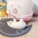 pvc waterproof cat toilet mat/cat litter mat/litter catcher mat