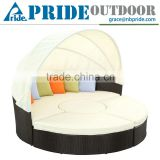 Outdoor Daybed With Canopy Modern Patio Indoor Round Luxury Rattan Wicker Outdoor Furniture Daybed