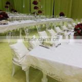Romantic clear acrylic white wedding chair