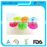 High quality bamboo stick with colorful umbrella
