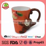 Monkey easter 3D animal mug wholesale                                                                                                         Supplier's Choice