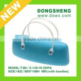 2015 hot selling handle eyeglass case glasses case hinge ,eyeglass soft case