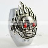 Vintage Bronze Ghost Rider Cap Finger Ring Watch