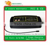 12V power saver battery charger 2A/4A/8A