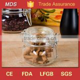 Container glass spice garden jar with clamp lid                                                                         Quality Choice