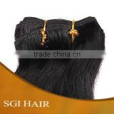 Indian remy human hair extensions machine weft fast shipping 14-36 inch loose curly best quality