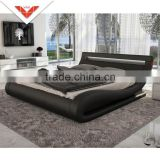 2016 Newest design B816 queen leather bed frame