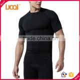 Men's Cool Dri Fit Compression Baselayer Short Sleeve T Shirts, Crew Neck Stretch Slimming Body Shaper Top Shirt                                                                         Quality Choice