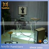 Factory directly OEM acrylic desk chair with wheel