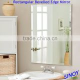 Double Coated Beveled Edge Frameless Mirror Glass for home and commercial decoration applications