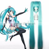 2016 Hot Synthetic Japanese Anime Hatsune Miku Cosplay Wig With Two Ponytails