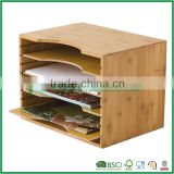 bamboo drawer organizer magazine rack with 4 layer from fuboo