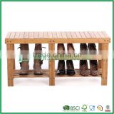Total Bamboo Shoe Bench Shoe Boot Storage Racks Organizer