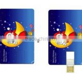 Custom Christmas logo plastic credit card usb 8gb 16gb with optional color & capacity