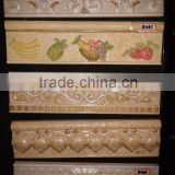 resin waistline living room border tile