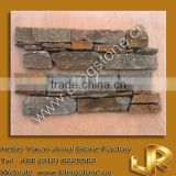 natural stacked rusty quartzite stone wallpaper