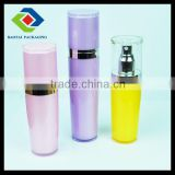 2014 new cosmetic packaging 60ml clear yellow flower lotion bottle with sprayer/new container set