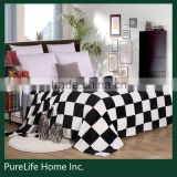 SZPLH Low price high quality super soft offset printing tartan blanket
