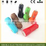 Electric type mobile phone use dual car charger adapter mini USB car charger for Samsung Table PC