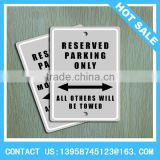 Customized Hanging Metal Parking Sign