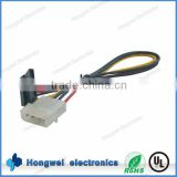 5.08mm pitch 4 pin female connector to SATA black connector electronic power cable assembly