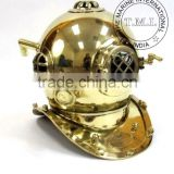 BRASS DIVING HELMET - NAUTICAL BRASS DIVER'S HELMET MARK IV - US NAVY MARK IV DIVING HELMET - VINTAGE REPRODUCTION